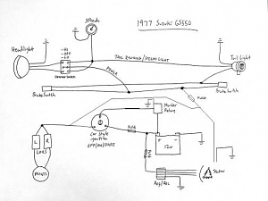 Wiring Help Needed - 1977 Suzuki GS550 | Gs550 Wiring Diagram |  | Chop Cult