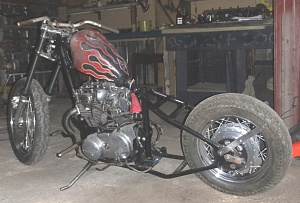 Click image for larger version.  Name:XS650 in Triumph frame, bolton rigid.JPG Views:4 Size:144.2 KB ID:104376