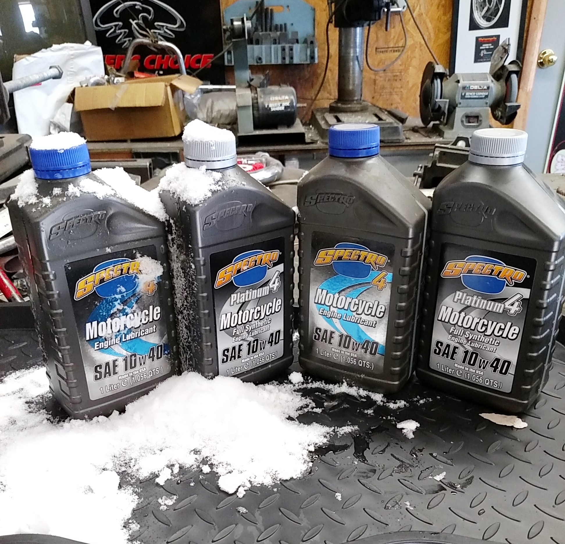 synthetic vs non synthetic motorcycle oils at start up