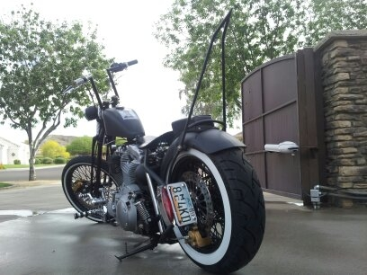 chop cult sissy bar from hedkase cycles with fender. Black Bedroom Furniture Sets. Home Design Ideas