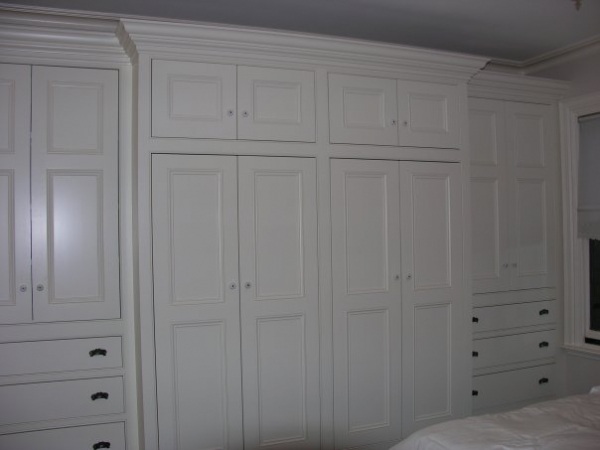 Chop Cult Wall To Built In Wardrobe For Master Bedroom Solid Maple Doors And Drawer Fronts Boston Ma 2005